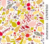 holiday food pattern | Shutterstock .eps vector #219698560