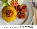Rice With Curry Beef
