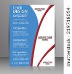 brochure design   flyer... | Shutterstock .eps vector #219718054
