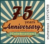 75 years celebration  75th... | Shutterstock .eps vector #219724708