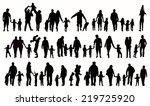 family silhouettes | Shutterstock .eps vector #219725920