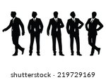 businessman posing vector... | Shutterstock .eps vector #219729169