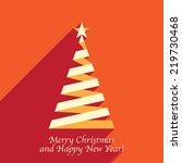 christmas tree from ribbon ... | Shutterstock .eps vector #219730468