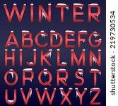 vector winter alphabet. red...   Shutterstock .eps vector #219730534