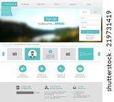 flat web design elements.... | Shutterstock .eps vector #219731419