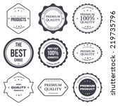 set of retro vintage badges and ... | Shutterstock . vector #219735796