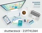 flat style modern design... | Shutterstock .eps vector #219741364