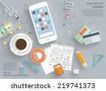 flat style modern design... | Shutterstock .eps vector #219741373