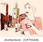 Woman Visiting Marrakesh In...