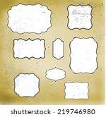retro grunge vintage frames on... | Shutterstock .eps vector #219746980