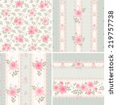 seamless floral vintage...   Shutterstock .eps vector #219757738