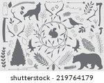 forest elements. part 1   Shutterstock .eps vector #219764179