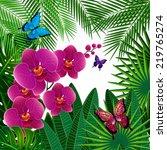 floral design background.... | Shutterstock . vector #219765274