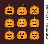 illustration of halloween... | Shutterstock .eps vector #219770566