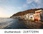 boat houses in klima village on ... | Shutterstock . vector #219772594
