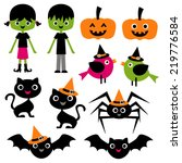 cute halloween vector clip art... | Shutterstock .eps vector #219776584