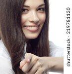 closeup portrait of attractive  ... | Shutterstock . vector #219781120