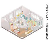 nursing home assisted living...   Shutterstock .eps vector #219785260