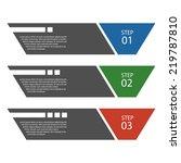 flat design template   numbered ... | Shutterstock .eps vector #219787810