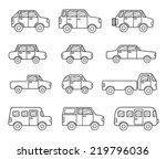set of doodle transport icons | Shutterstock .eps vector #219796036