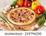 supreme pizza | Shutterstock . vector #219796330