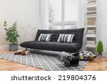 spacious living room with gray... | Shutterstock . vector #219804376