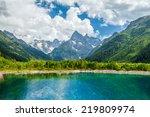 mountain lake | Shutterstock . vector #219809974