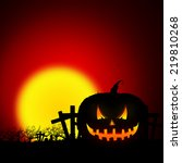 halloween pumpkin background  ... | Shutterstock . vector #219810268