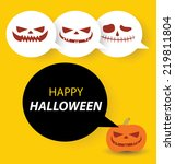 halloween vector card | Shutterstock .eps vector #219811804