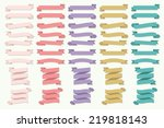 banner ribbon elements set | Shutterstock .eps vector #219818143