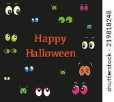 happy halloween greeting card... | Shutterstock .eps vector #219818248