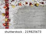 classical wooden christmas... | Shutterstock . vector #219825673