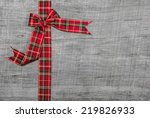 Festive Red Checked Ribbon On...