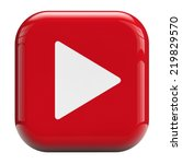 play button isolated with... | Shutterstock . vector #219829570