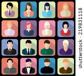 users icon vector black on... | Shutterstock .eps vector #219831118