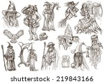 from halloween theme  wizards... | Shutterstock . vector #219843166