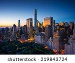 new york city   amazing sunrise ... | Shutterstock . vector #219843724