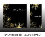 christmas background with... | Shutterstock .eps vector #219845950