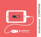 phone charging  flat icon... | Shutterstock .eps vector #219845968