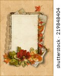 vintage card with fine autumn... | Shutterstock . vector #219848404