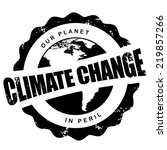 Climate Change Stamp Eps 10...