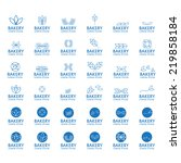 bakery icons set   isolated on... | Shutterstock .eps vector #219858184