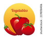 vegetables graphic design  ... | Shutterstock .eps vector #219858406