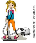 vacuuming   vector | Shutterstock .eps vector #21986521