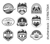 set of retro badges and label... | Shutterstock .eps vector #219867064