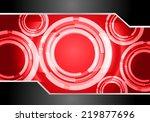 light abstract technology...   Shutterstock .eps vector #219877696