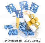 isolated 3d rendered gift on...   Shutterstock . vector #219882469