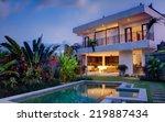 Tropical Villa View With Garde...