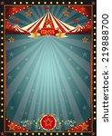black fun circus. a circus dark ... | Shutterstock .eps vector #219888700