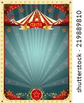 cream retro circus background.... | Shutterstock .eps vector #219889810